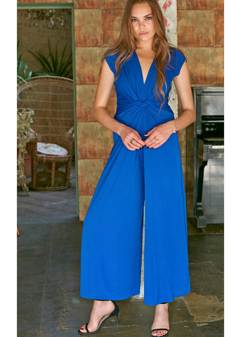 Onjenu Leia Block 70's Jumpsuit Blue