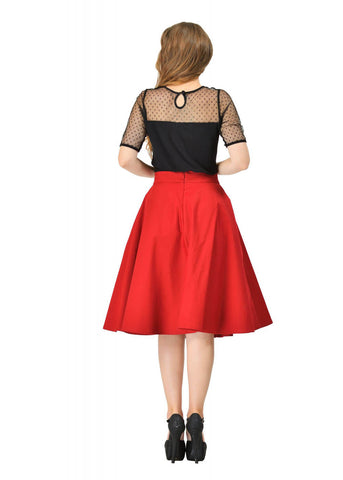Dolly & Dotty Shirley 50's Swing Skirt Burgundy