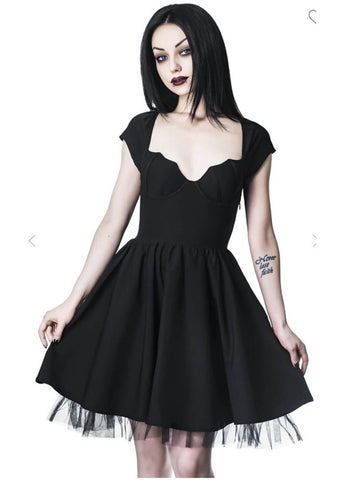 Killstar Good Ghoul 80's Party Dress Black