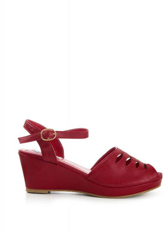 Lulu Hun Lily 50's Wedges Red