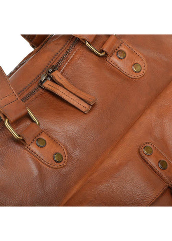 Ashwood Magnus Leather Shoulder Bag Rust
