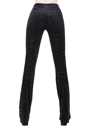 Killstar Bellatrix Bell Bottoms Trousers Black