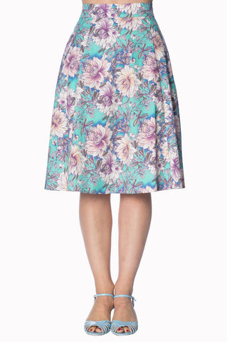 Banned Marys Garden A-Lijn 50's Skirt Green