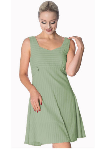 Banned Make A Wish Tabs 60's Dress Green
