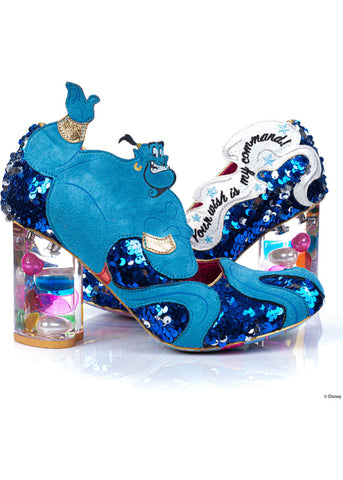 Irregular Choice Aladdin You Rubbed? Pumps Blue White