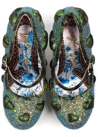 Irregular Choice Forbury Gardens Wedges Green