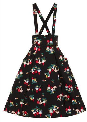 Collectif Alexa Gnome 50's Swing Skirt Black