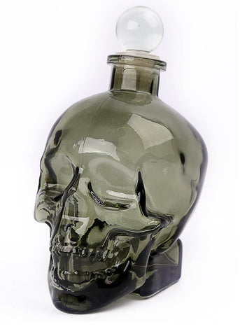 Temerity Jones Gentlemens's Club Skull Decanter Glass