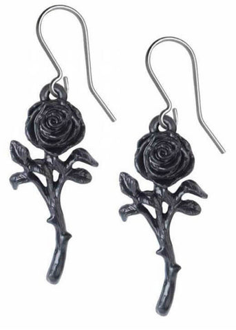 Alchemy Romance Of The Black Rose Earrings