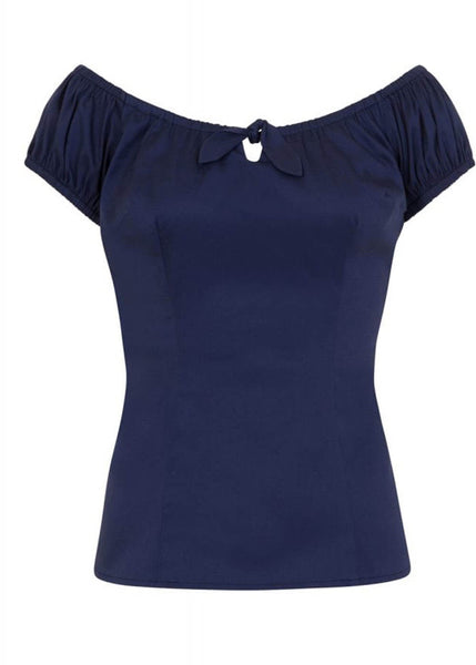 Collectif Lorena 50's Plain Top Navy