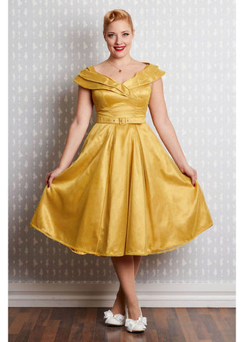 Miss Candyfloss Belle Sun Swing 50's Dress Yellow