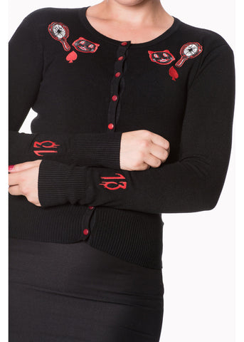 Banned Unlucky Kitty Cardigan Black
