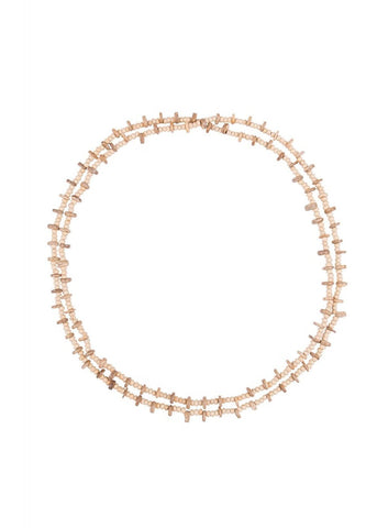 Bright and Beautiful Lara Beaded 70's Necklace Cream
