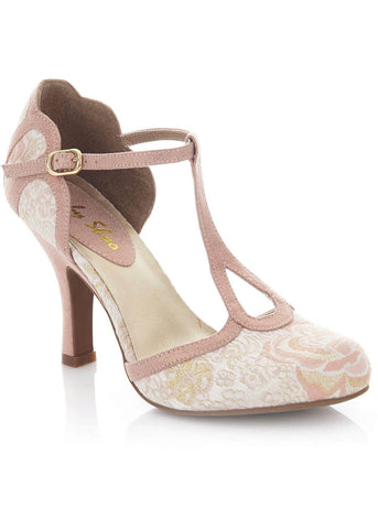 Ruby Shoo Polly Pumps Peach Pink