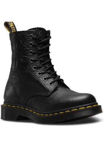 Dr. Martens 1460 Pascal Floral Emboss Boots Black
