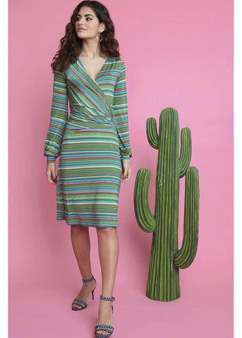 Onjenu Sylvie Horizonte 70's Dress Green
