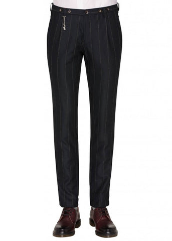 Club of Gents Saville Row Cabel Pinstripe Trousers Navy