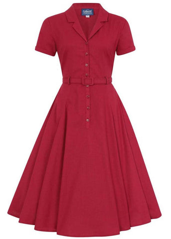 Collectif Caterina 40's Swing Dress Red