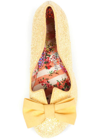 Irregular Choice Nick of Time Heels Yellow