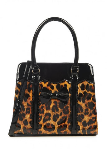 Banned Juicy Bits 50's Purse Leopard Black