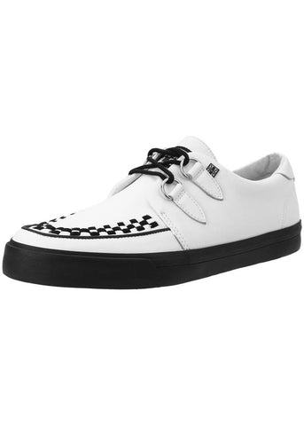 T.U.K Mens VLK D Ring Creeper Sneaker White Leather