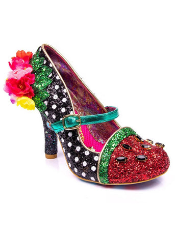 Irregular Choice Crimson Sweet Fruit Pumps Black Green