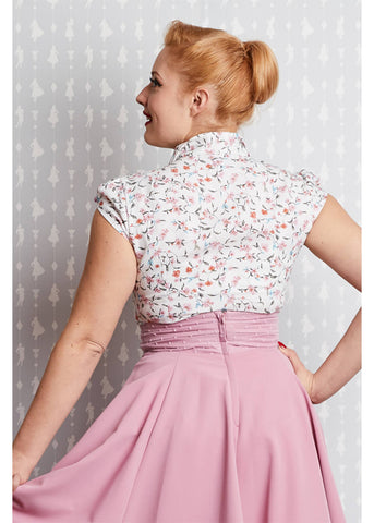 Miss Candyfloss Daisy May 40's Blouse White