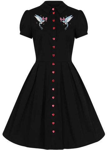 Hell Bunny Jojo 50's Swing Dress Black