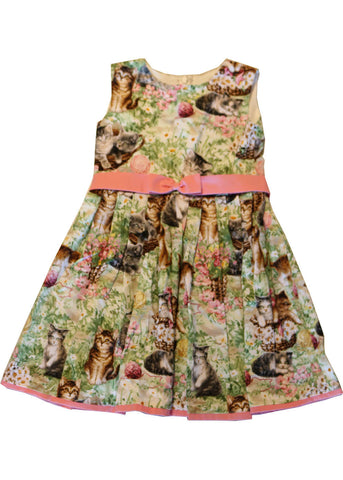 Victory Parade Kids Playing Kittens Swing Dress