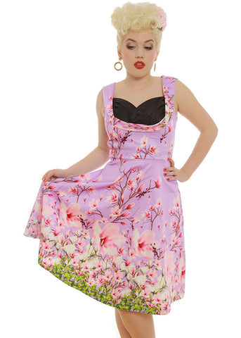 Lindy Bop Ophelia Dragonfly 50's Swing Dress Lilac