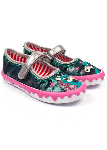 Irregular Choice Kids Mini Reins Shoes Navy