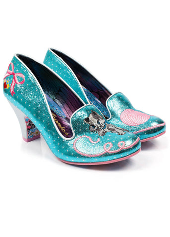 Irregular Choice Fuzzy Peg Pumps Blue