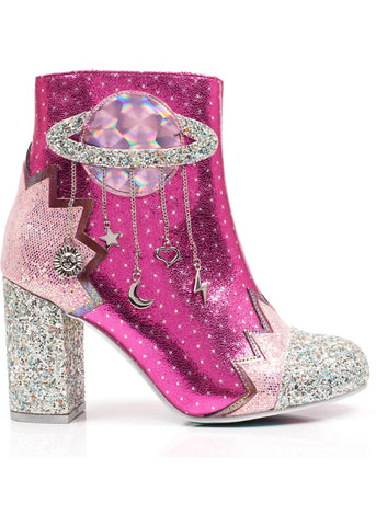 Irregular Choice Intergalactic Booties Pink