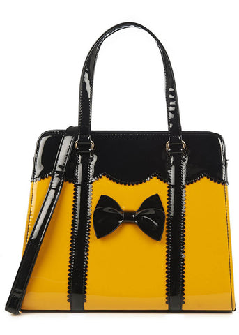 Banned Juicy Bits 50's Purse Mustard Black