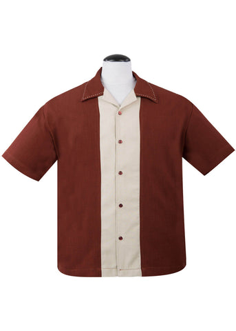 Rock Steady Gentlemen Big Daddy Button Up Shirt Rust