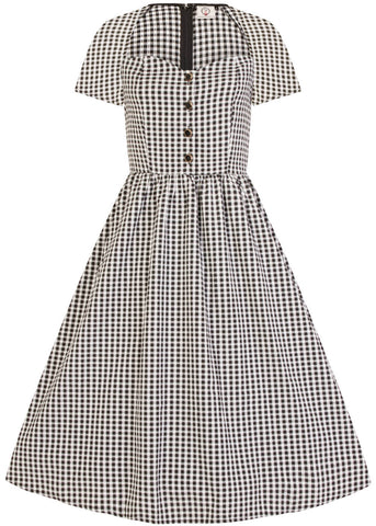 Banned Summer Days Button 50's Swing Dress Black