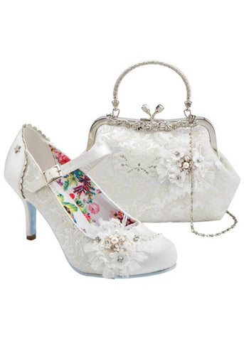 Joe Browns Couture Hitched Court 50's Pumps Ivory