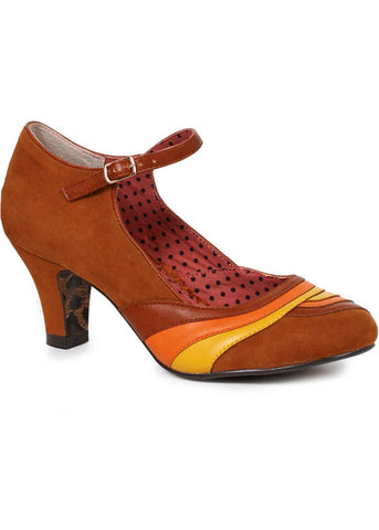 Bettie Page Yule 60's Pumps Brown