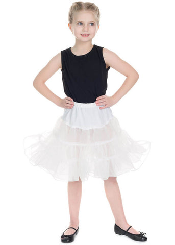 Hearts & Roses Kids Petticoat White
