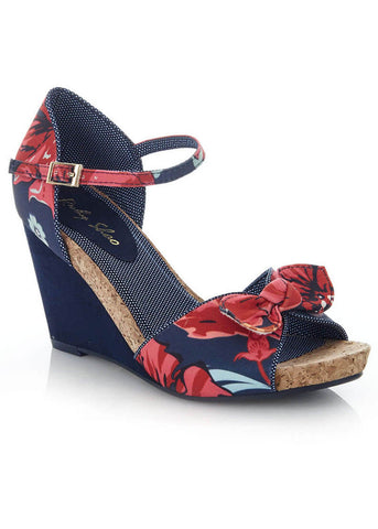 Ruby Shoo Molly Wedges Coral