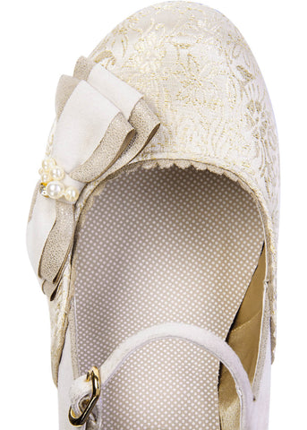 Ruby Shoo Maria Pumps Cream Gold