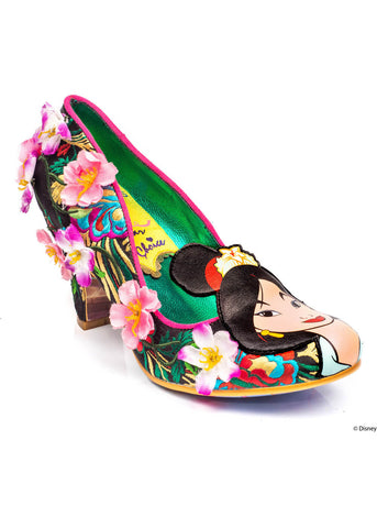 Irregular Choice Mulan Let Dreams Blossom Pumps Black White