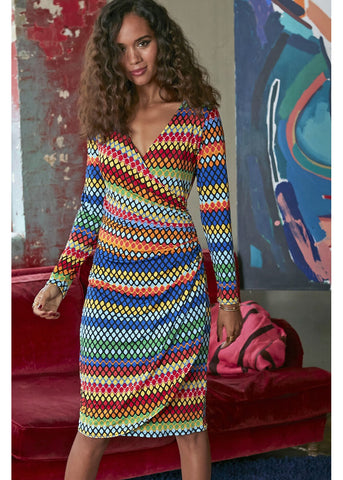 Onjenu Belle Tangier 70's Dress Multi