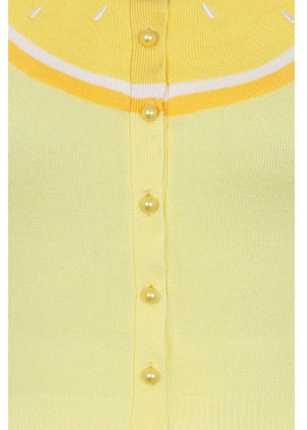Collectif Jessie Lemon 50's Cardigan Yellow