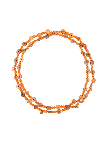 Bright and Beautiful Anna Beaded 70's Necklace Orange