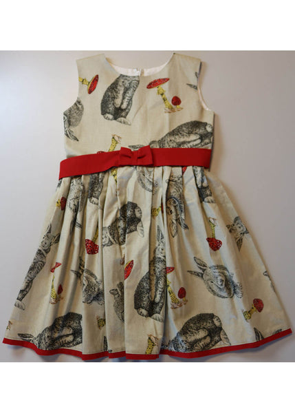 Victory Parade Kids Bunnies Swing Dress