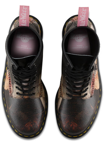 Dr. Martens 1460 Power, Corruption & Lies New Order Lace-up Boots White Black