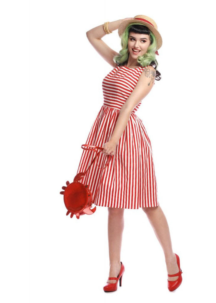 2be7eb2c Collectif Candice Striped 50's Swing Dress Red White ♥ Shop now at ...