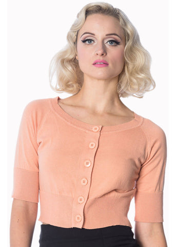 Banned Raven 50's Cardigan Apricot Pink