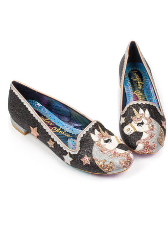 Irregular Choice Loosen the Reins Flats Black
